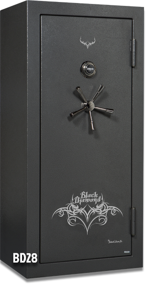 Black Gun Safe In Living Room Decor: 24 Gun Capacity Safe BD5928