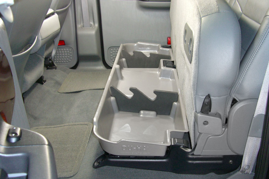 Underseat Storage Gun Case Light Gray For 03 07 Ford
