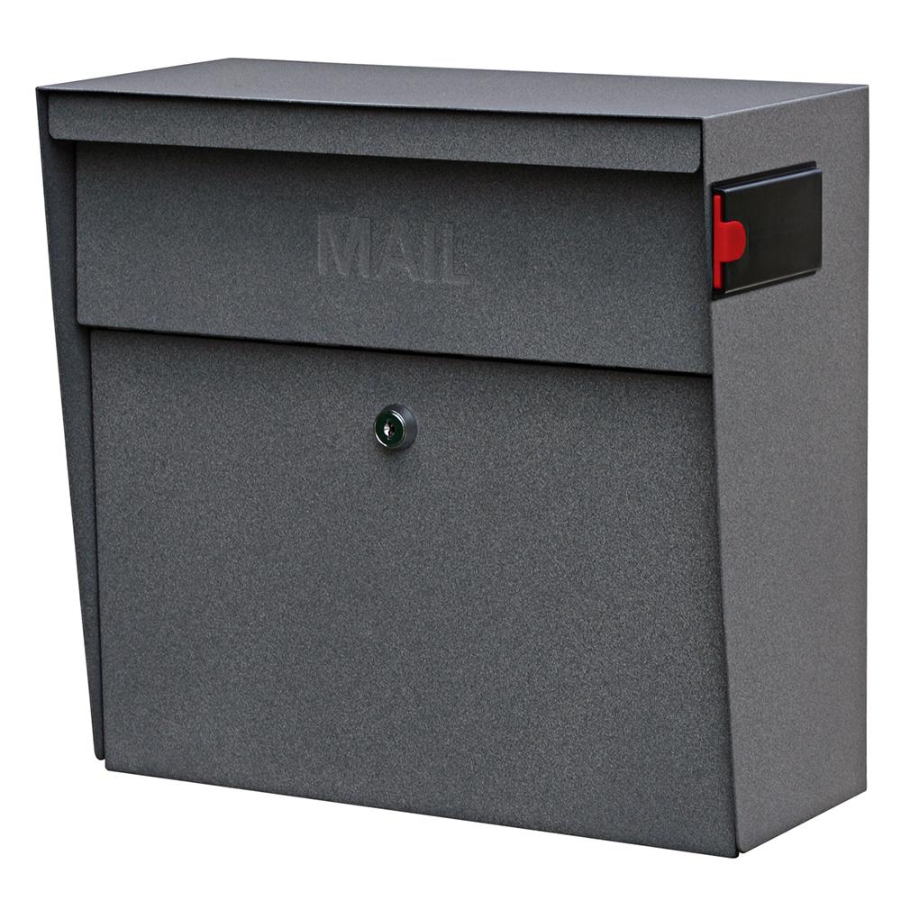 Mailboss 7161 Metro Wall Mount Locking Mailbox Granite