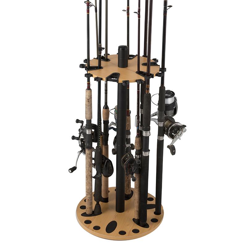Rush creek 24 fishing rod spinning round storage rack 38 2001 for Gun fishing rod