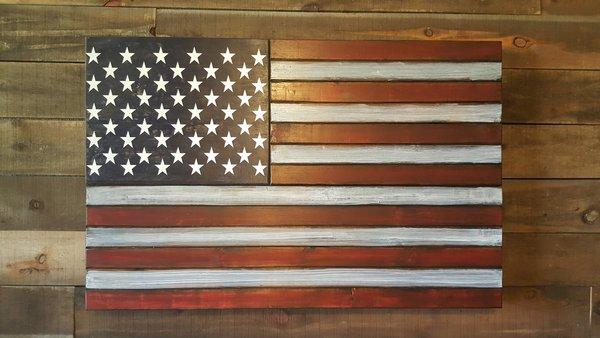 San Tan Wood Works Rustic Concealment Flag X Large Size