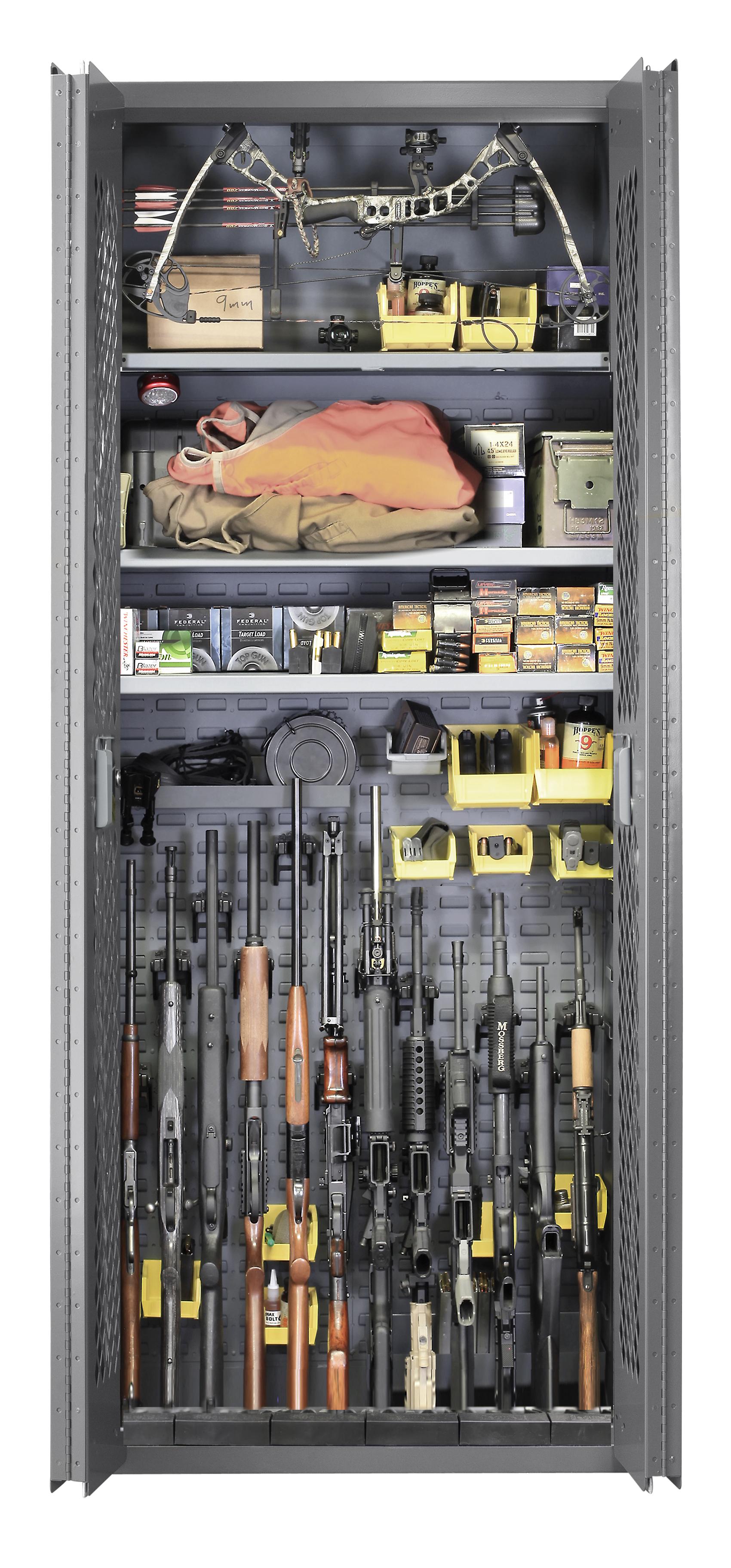 Secureit Tactical Model 84 12 Gun Storage Cabinet With
