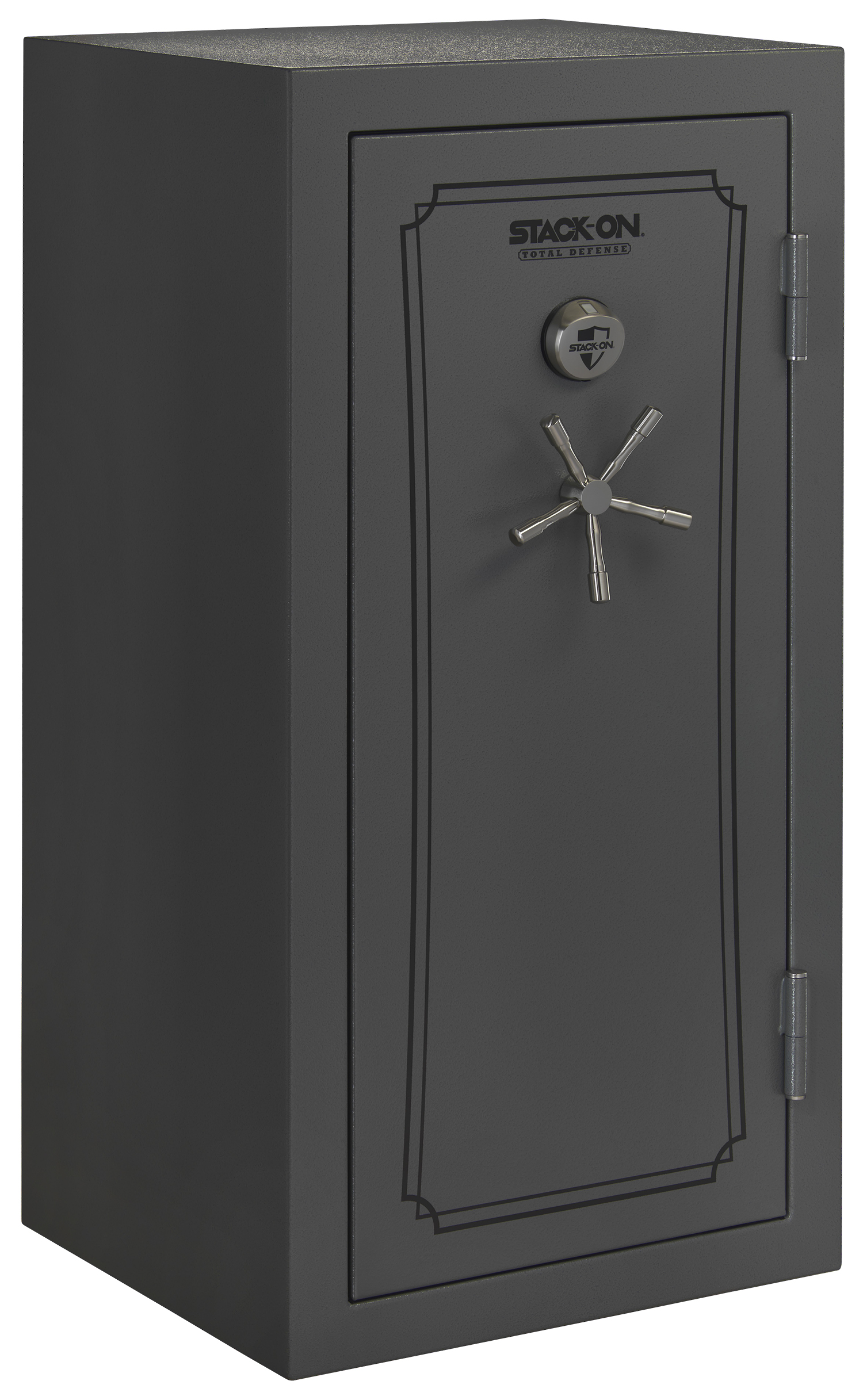 stackon total defense gun safe wbiometric lock grey pepple