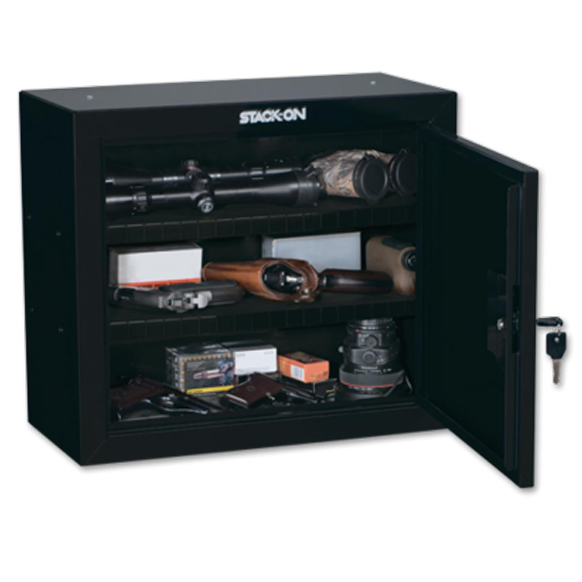 Stack-On Pistol/Ammo Cabinet with 2 Shelves GCB-900