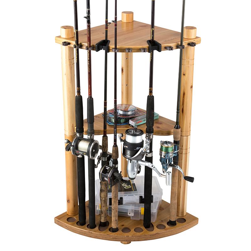 Gun racks rifle racks for Fishing rod storage