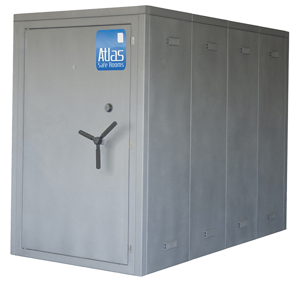 Atlas safe rooms defender series 12 person safe room for Best safe rooms