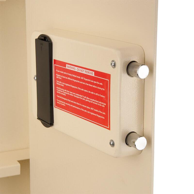 Barska Ax12880 Large Biometric Wall Safe Left Swing Ax12880