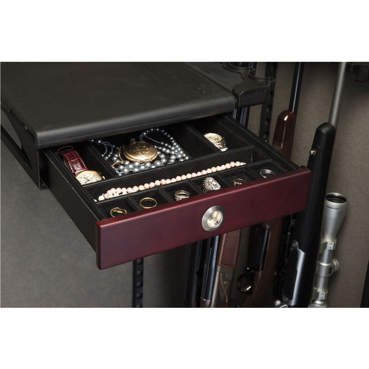 browning jewelry axis drawer insert box ship quick gunsafes