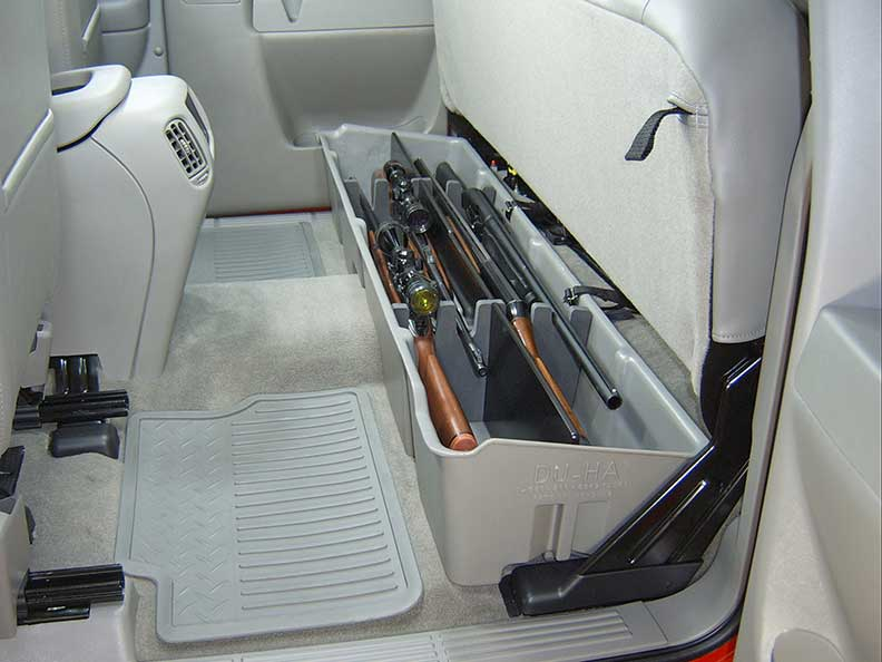 Underseat Storage Gun Case Dark Gray For 99 07 Chevrolet Gmc