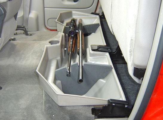 Underseat Storage Gun Case For 02 17 Dodge Ram 1500 Amp 03