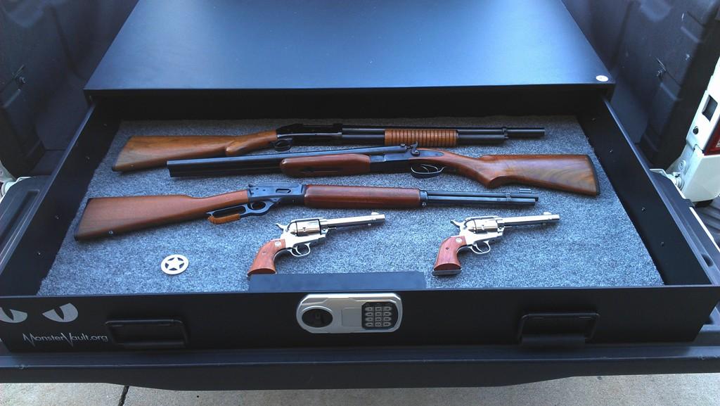 Under The Bed Gun Safe Monstervault Underbed Or Full Size Vehicle Safe 4828