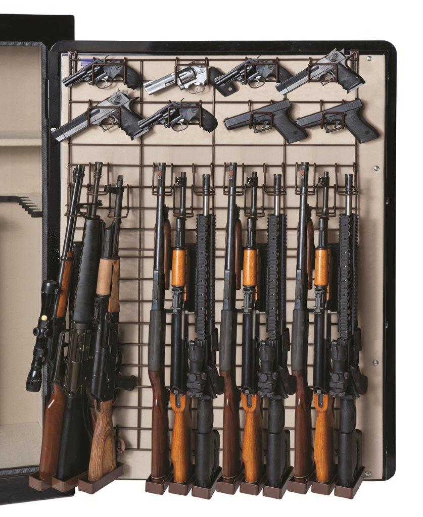 Rack Em 6057 Maximizer Full Door 12 Rifle 26 Pistol Rack 6057