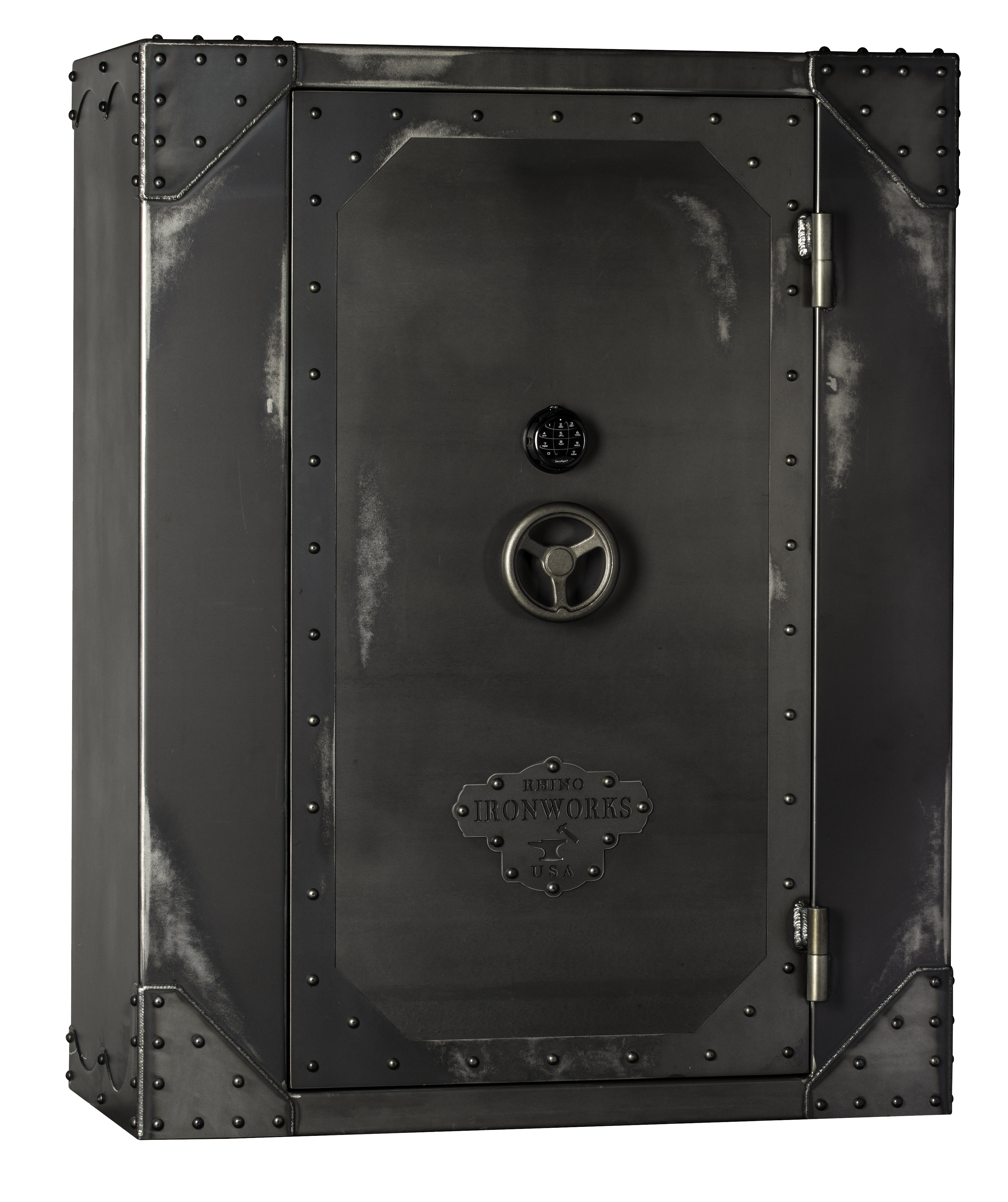 Rhino AIW Series Ironworks AIW7256X 90 Minute Fire Safe: 71 Long Guns 10 Pistol Pockets Gun Safe
