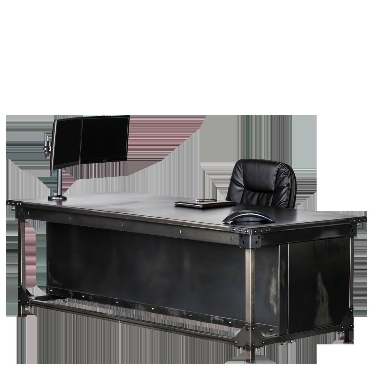 rhino office furniture. rhino ironworks executive desk - iwd3084-r office furniture
