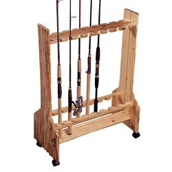 Rush Creek 16-Rod Double-Sided Rolling Rack