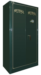 "Securall - GR24 - 24 Gun Capacity Radius w/ Digital Lock Double Door Cabinet 65""H x 34""W x 18""D"