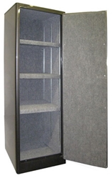"Securall - SD3 - 3 Shelf Radius w/ Digital Lock Single Door Cabinet 65""H x 23""W x 18""D"