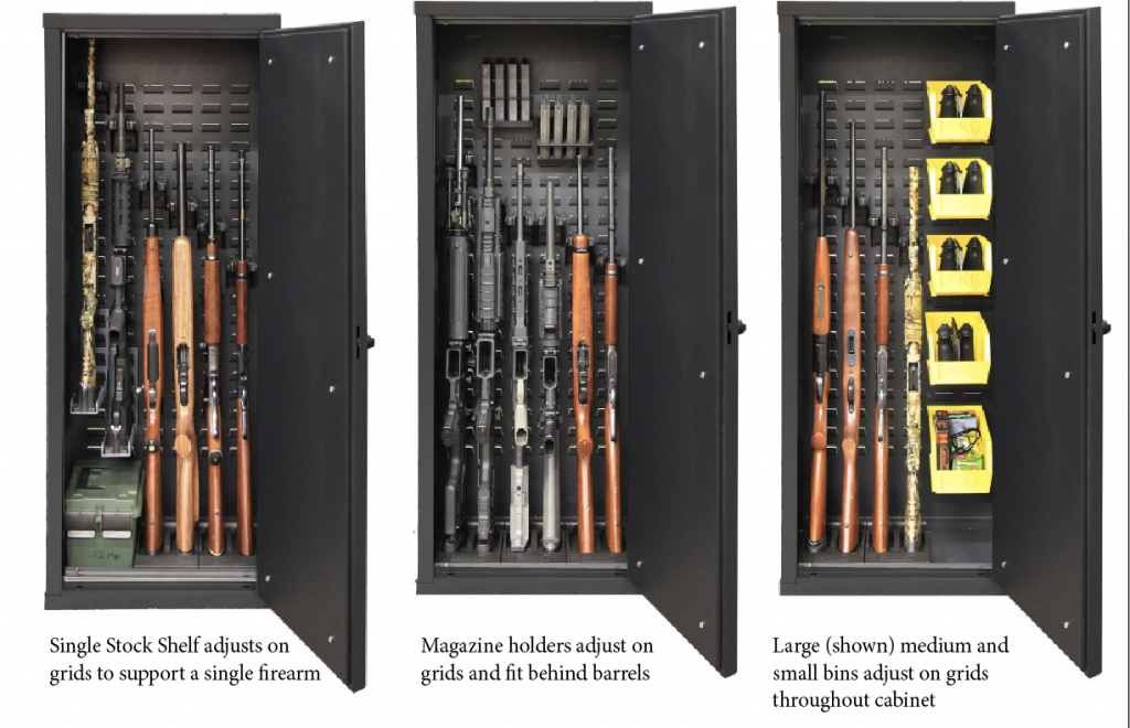 Stock on gun cabinet