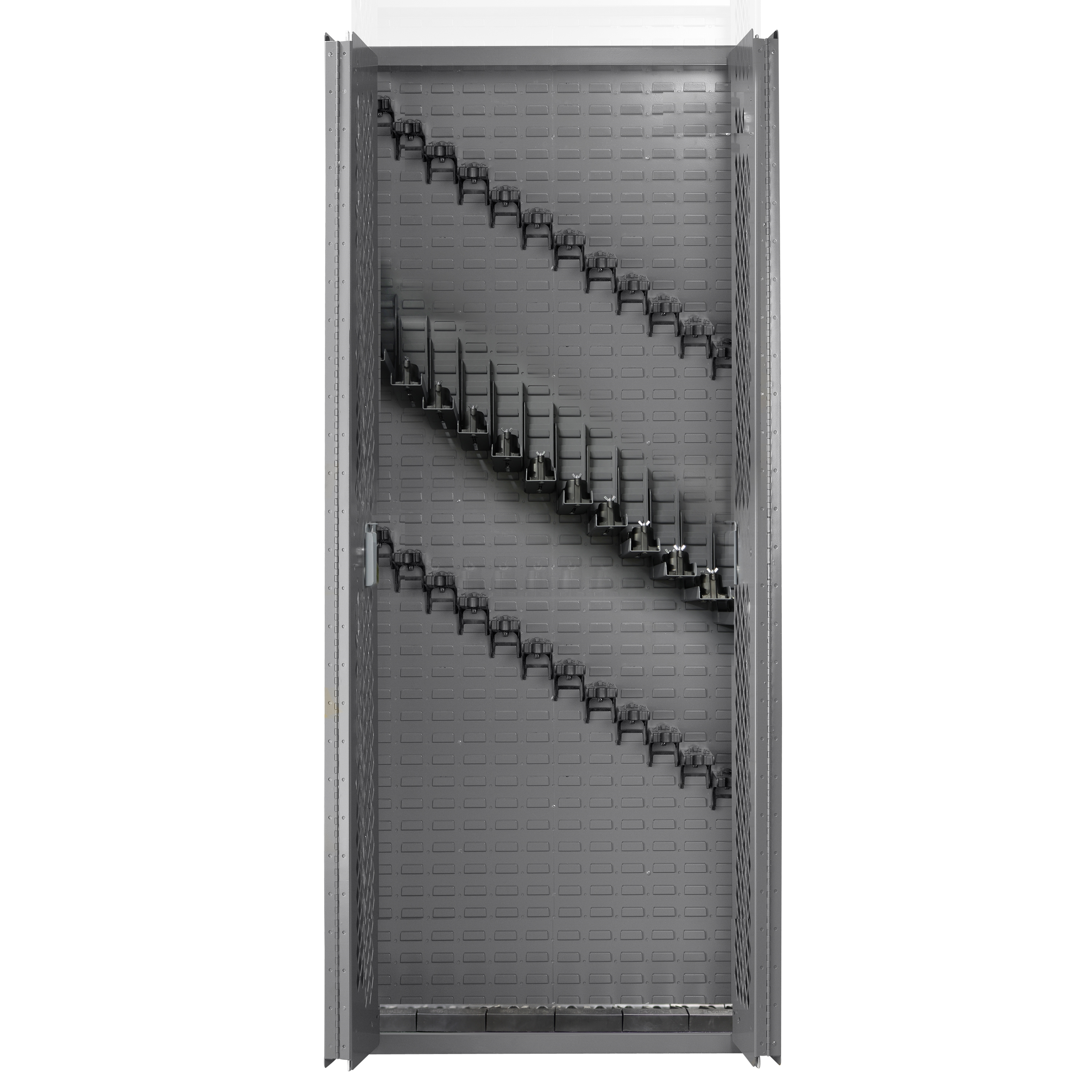 SecureIt Tactical Model 84: 24 Gun Storage Cabinet with Adjustable Single Stock Shelves - SEC-300-24RS