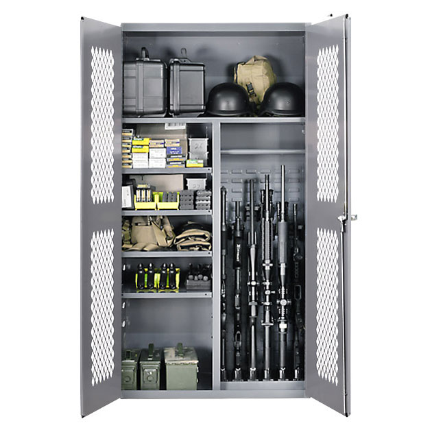 Secureit Tactical Steel Cabinet 2500 Gear And Gun Split