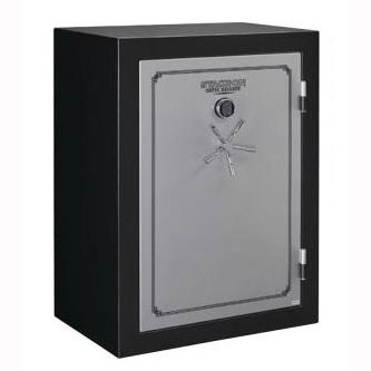 Stack-On TD-54-SB-E-S Fire & Water Resistant Convertible Safe w/ Electronic Lock - 54-Gun-Silver/Black