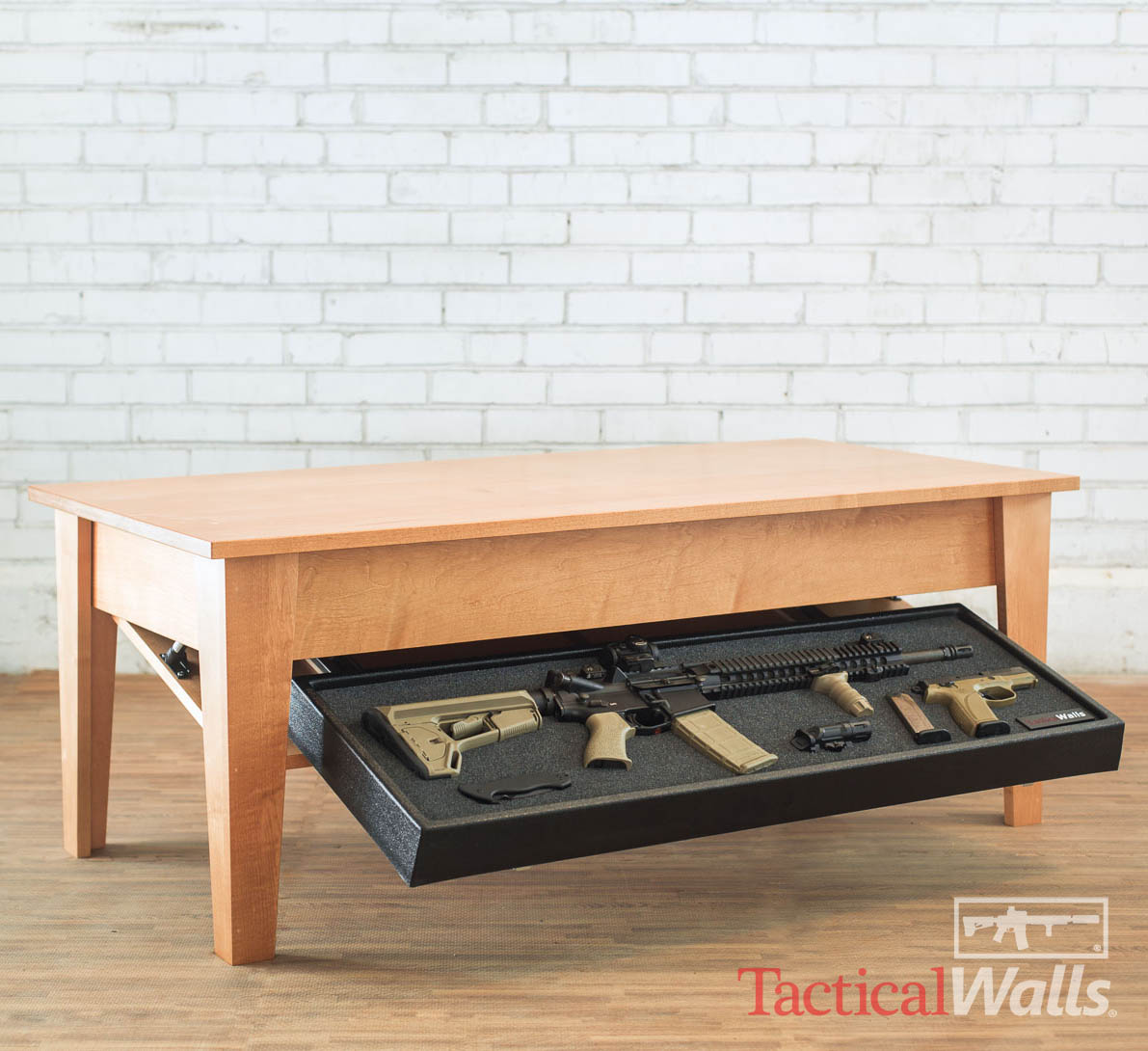 Gun Storage Coffee Table Plans: Tactical Walls Coffee Table