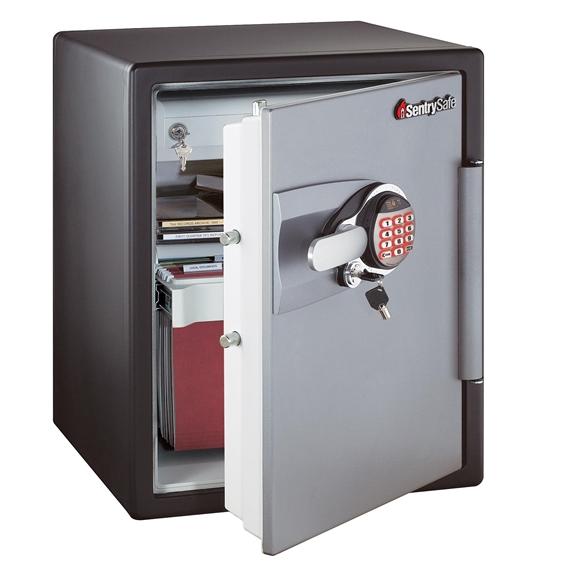 sentry oa5848 fire safe electronic safe black gunmetal grey gsoa5848. Black Bedroom Furniture Sets. Home Design Ideas