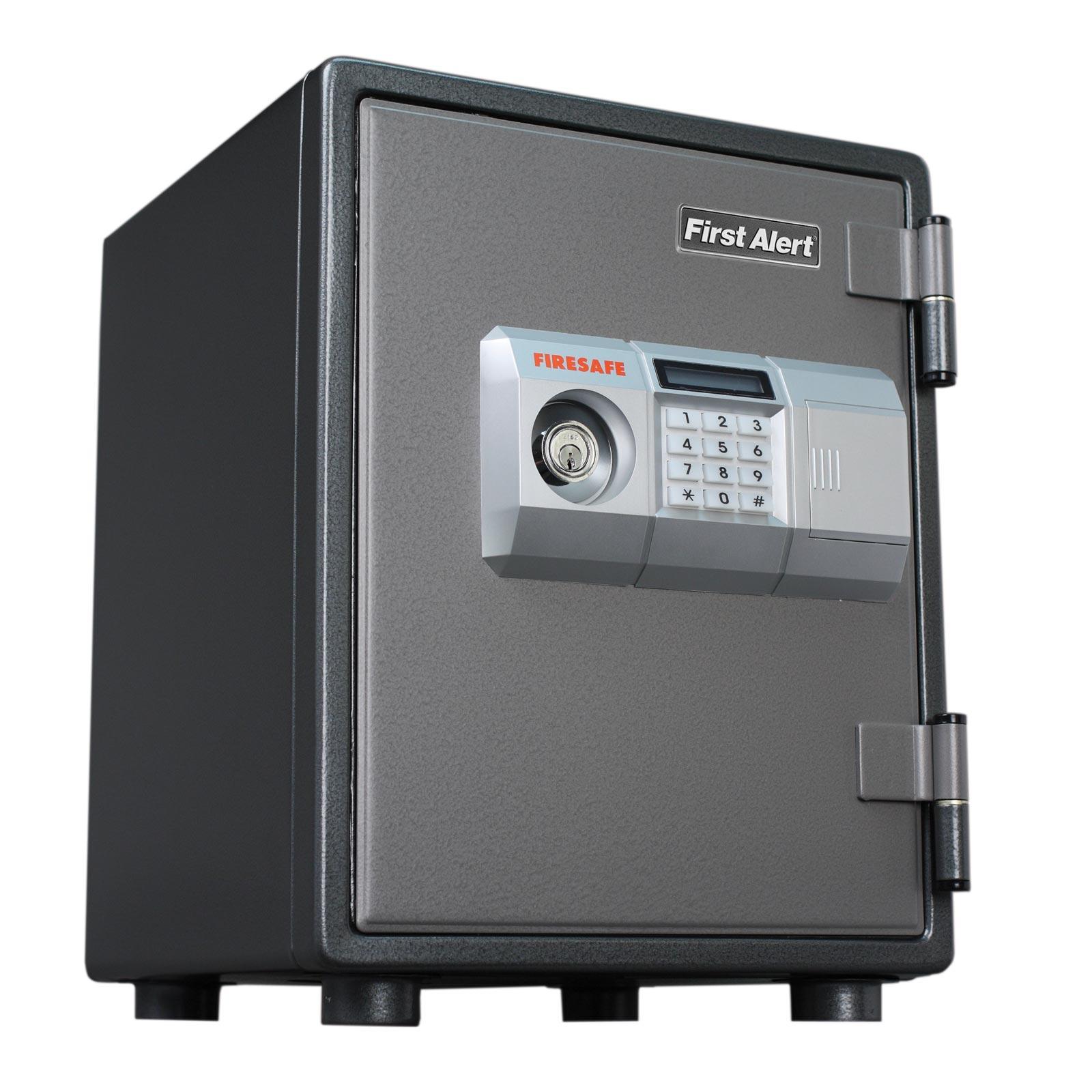 First alert 2054df 1 hour steel fire safe with electronic for 1 51 cu ft solid steel digital floor safe