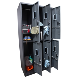 Homak 6 Door Steel Gun Cabinet/Locker