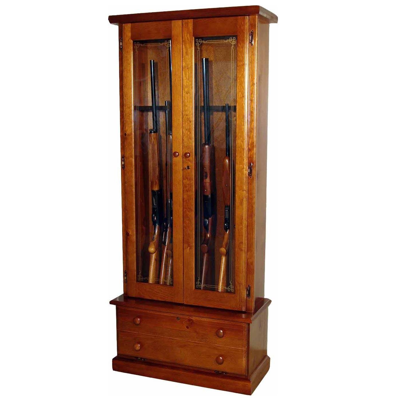 scout 1119 gun cabinet solid pine 12 gun gs1119. Black Bedroom Furniture Sets. Home Design Ideas