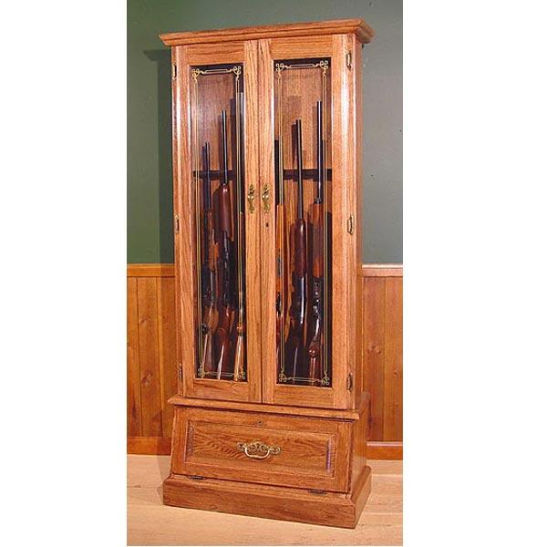 scout oak 8 gun cabinet. Black Bedroom Furniture Sets. Home Design Ideas
