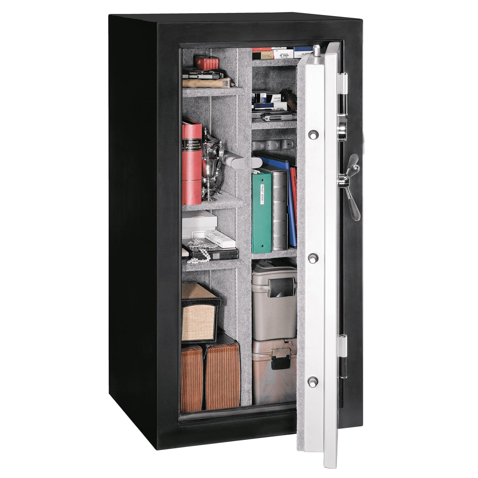 Stack-On TD-28-SB-E Fire & Water Resistant Convertible Safe w/ Electronic Lock - 28-Gun - GSTD-28-SB-E