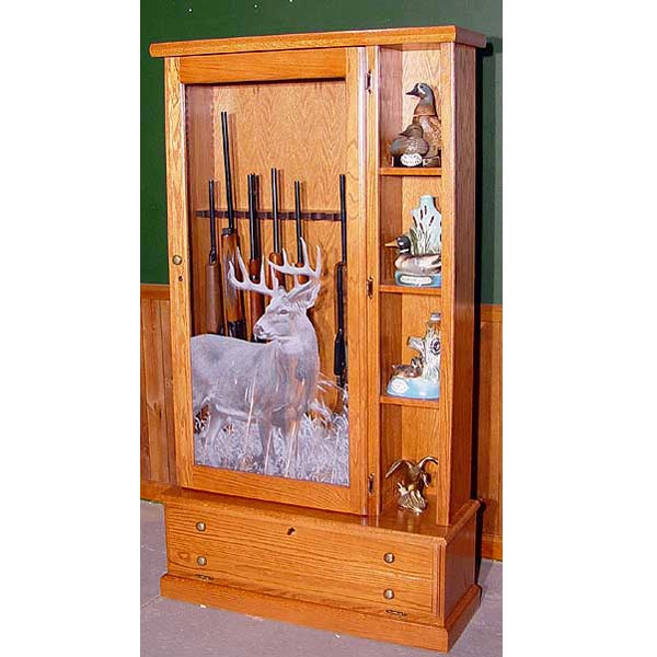 Scout 1358 Gun Cabinet Solid Oak 8