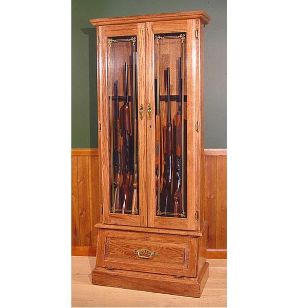 Scout 908 Gun Cabinet Oak 8 Gun