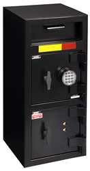 "American Security DSF3214CK - ""B"" Rated Front Load Depository Drop Safe With E-Lock Depository and Dual Key Lock Bottom Locker"