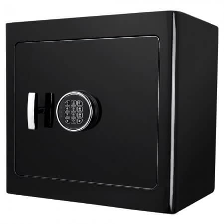 Barska AX13106 Black Jewelry Safe - Black Interior