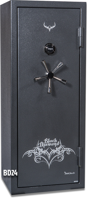 Black Gun Safe In Living Room Decor: 20 Gun Capacity Safe BD5924
