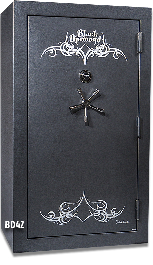 Black Gun Safe In Living Room Decor: 51 Gun Capacity Safe BD7242