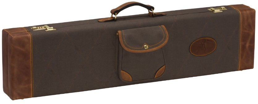 Browning Lona Canvas/Leather Fitted Case, Flint/Brown browning, gun case