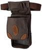 Browning Lona Canvas/Leather Large Deluxe Shell Pouch, Flint/Brown browning,  Range Bag, Shell Pouch