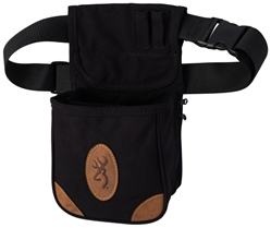 Browning Lona Canvas/Leather Shell Pouch, Black browning,  Range Bag, Shell Pouch