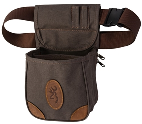 Browning Lona Canvas/Leather Shell Pouch, Flint browning,  Range Bag, Shell Pouch