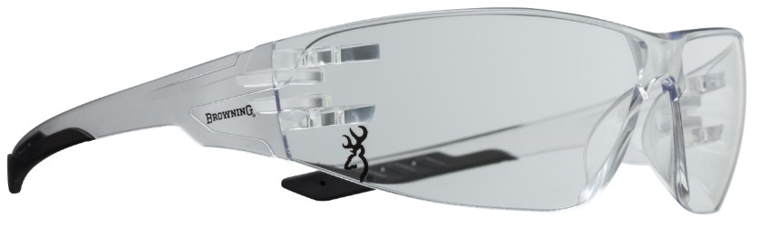 Browning Shooters Flex Glasses - Clear/Black Shooters glasses, ANSI Z871.1-2003 impact standards,Buckmark , browning