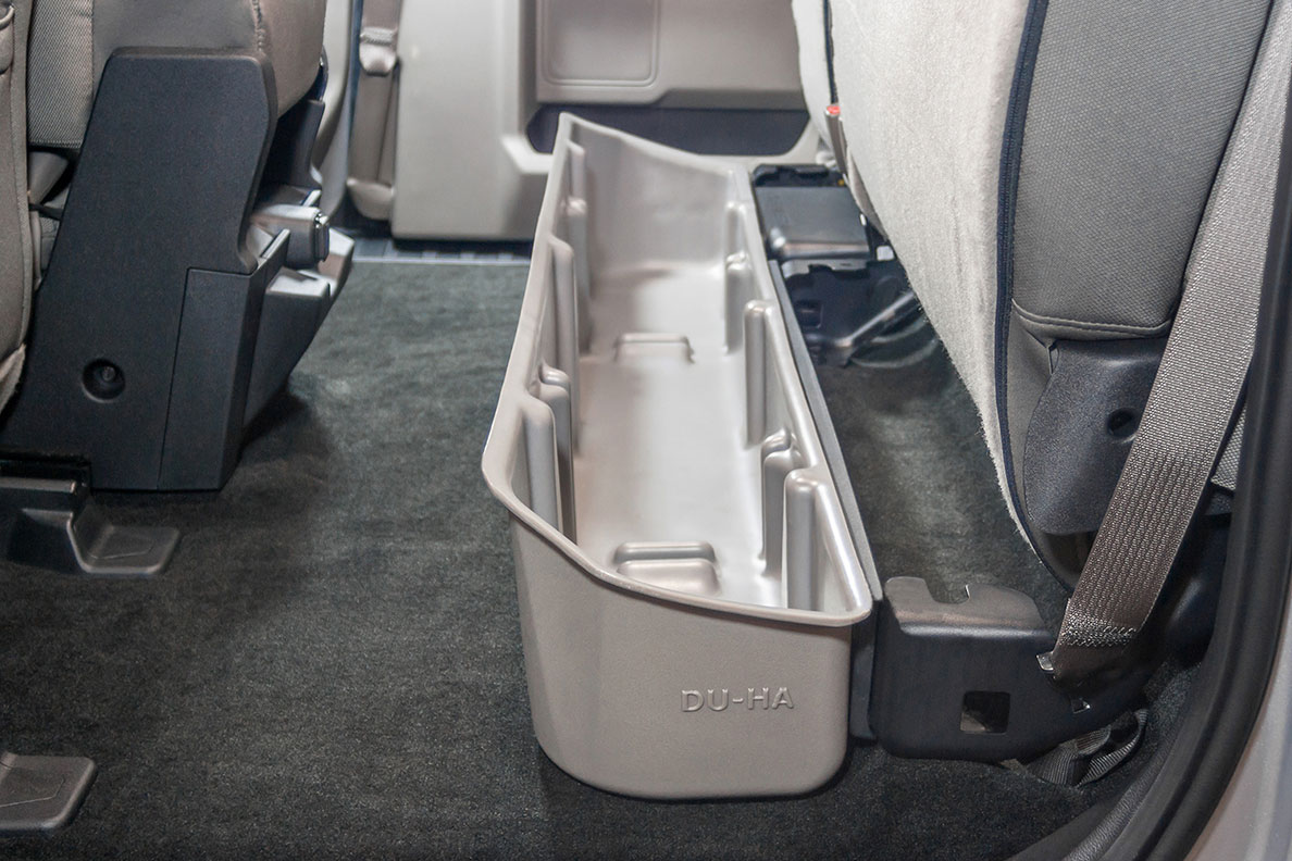 F150 Under Seat Storage >> Du Ha Underseat Storage Gun Case 2015 2017 Ford F 150 Supercab
