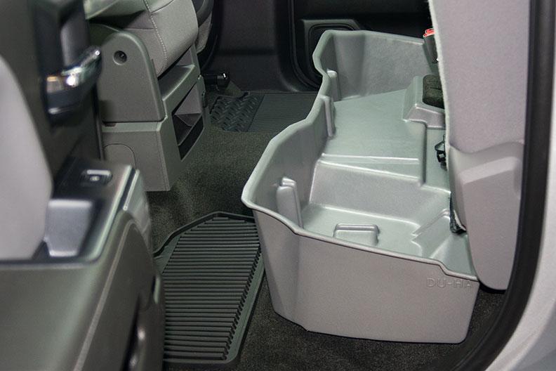 Underseat Storage Gun Case Jet Black For 14 15 Chevrolet Gmc