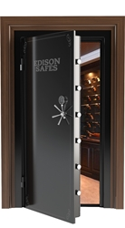 No photos of custom safe available, will look similar to this photo