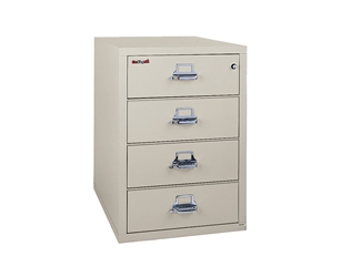 Fire King Card-Check-Note File Cabinet 4 Drawers