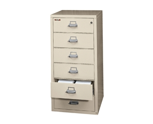 Fire King Card-Check-Note File Cabinet 6 Drawers