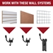 Gun Storage Solutions - Horizontal Gun Cradles - 10 Pack - GCRDL10