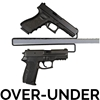 Gun Storage Solutions Over-Under Handgun Hanger - OUHH2 - 2 Pack